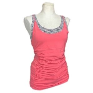 Lucy Activewear Pink Ruched Tank Top Size M